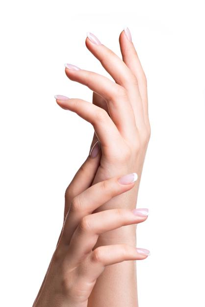 beautiful woman s hands with beautiful nails after manicure salon with french manicure 186202 8779